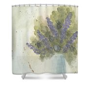 Lilacs Shower Curtain by Ken Powers