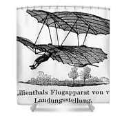 Lilienthal Glider, 1895 Shower Curtain
