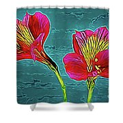 Lilies 18-10 Shower Curtain