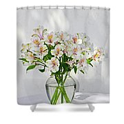 Lilies In A Vase 001 Shower Curtain