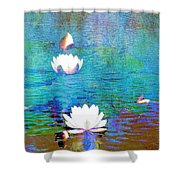 Lilies In Abstract Shower Curtain