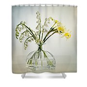 Lilies Of The Valley In A Glass Vase Shower Curtain