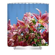 Lilies Pink Lily Flowers Art Prints Floral Summer Garden Baslee Troutman Shower Curtain