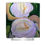 Lilies With Chiffon Shower Curtain