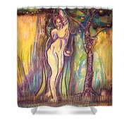 Lilith Satan Adam And The Fruit Shower Curtain