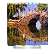 Liliuokalani Gardens Shower Curtain
