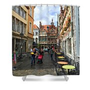 Lille Streets Series #2 Shower Curtain