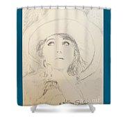Lillian In Hat Shower Curtain