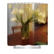 Lillies On The Table Shower Curtain