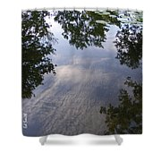 Lilly Pad Reflections Shower Curtain