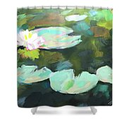 Lillypad Reflections Shower Curtain