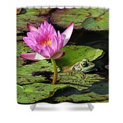 Lily And The Bullfrog Shower Curtain
