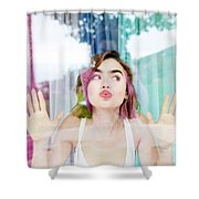 Lily Collins Shower Curtain