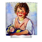 Lily Cow And The Queen 1915 Shower Curtain
