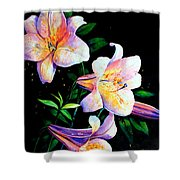 Lily Fiesta Shower Curtain