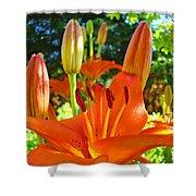 Lily Flowers Garden Art Prints Orange Lilies Floral Baslee Troutman Shower Curtain