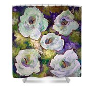 Lily Garden With Shadows And Light Shower Curtain
