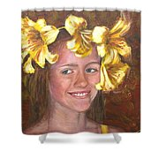 Lily Girl Shower Curtain