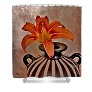 Lily In A Peruvian Vase Shower Curtain