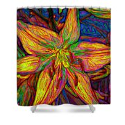 Lily In Abstract Shower Curtain
