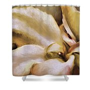 Lily In The Garden Neutral Shower Curtain