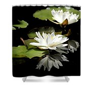 Lily Of The Lake Watercolor Shower Curtain