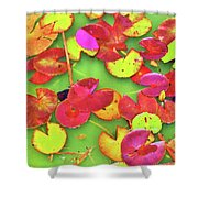Lily Pad Faces Shower Curtain