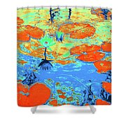 Lily Pads And Koi 10 Shower Curtain