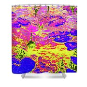 Lily Pads And Koi 11 Shower Curtain