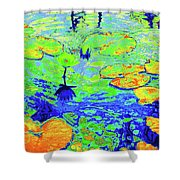 Lily Pads And Koi 14 Shower Curtain