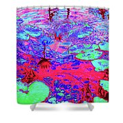 Lily Pads And Koi 15 Shower Curtain