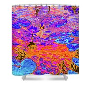 Lily Pads And Koi 17 Shower Curtain