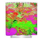 Lily Pads And Koi 19 Shower Curtain