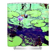 Lily Pads And Koi 2 Shower Curtain