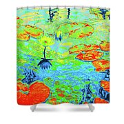 Lily Pads And Koi 20 Shower Curtain