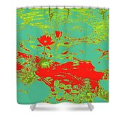 Lily Pads And Koi 33 Shower Curtain