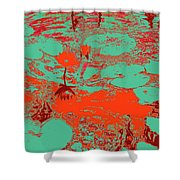 Lily Pads And Koi 35 Shower Curtain