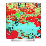 Lily Pads And Koi 8 Shower Curtain