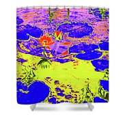 Lily Pads And Koi 9 Shower Curtain