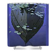 Lily Pads And Reflection Shower Curtain