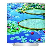 Lily Pond 2 Shower Curtain