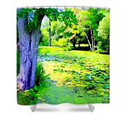 Lily Pond #5 Shower Curtain