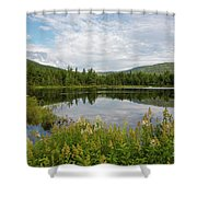 Lily Pond - White Mountains, New Hampshire Shower Curtain