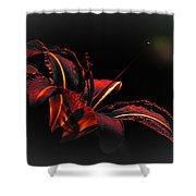 Lily Red-black  Shower Curtain