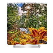 Lily Trail Shower Curtain