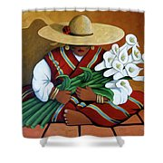 Lily Woman Shower Curtain