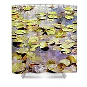 Lilypads W C Shower Curtain