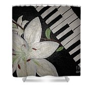 Lily's Piano Shower Curtain