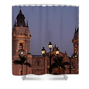 Lima Cathedral Twin Towers One Shower Curtain