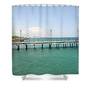 Limassol Marina  Shower Curtain